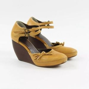 Anthropologie Schuler and Sons Buckle Ankle Bow 39